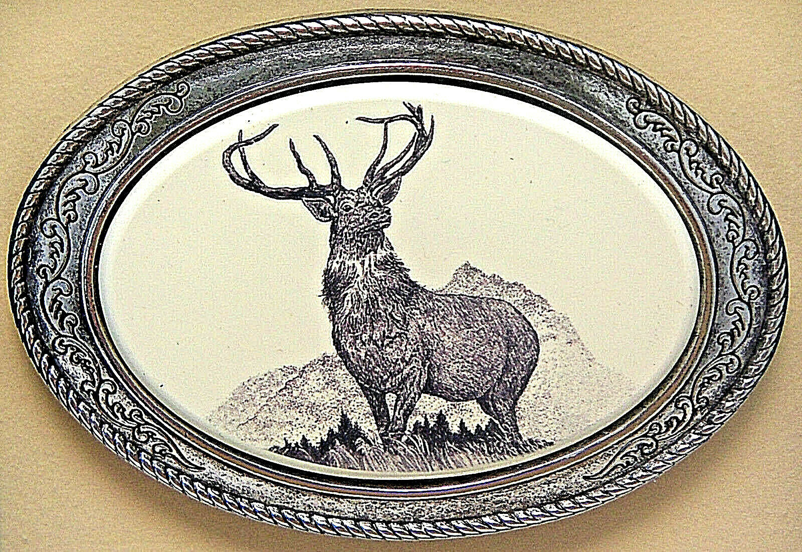 Belt Buckle Barlow Scrimshaw Carved Painted Art Bass Traditional Fish 590305 NEW