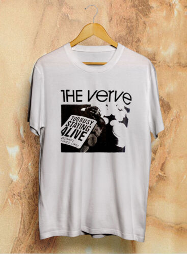 New Vintage The Verve Too busy staying alive T Shirt 90s Rare Reprint S XXL