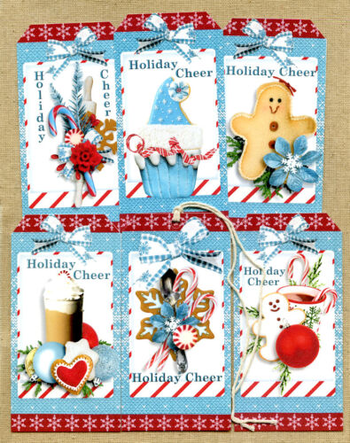 Hang Tags  RETRO STYLE CHRISTMAS CHEER TREATS MIXED TAGS #T 73 Gift Tags