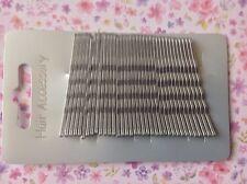36 Gris Plata 4.5 Cm Metal Kirby Hair clips Grips Bobby Pin Up Bollo Escuela Gimnasio