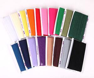 10m Schrägband Baumwolle 20mm gefalzt (0,49€/m) Einfaßband Kantenband Farbwahl