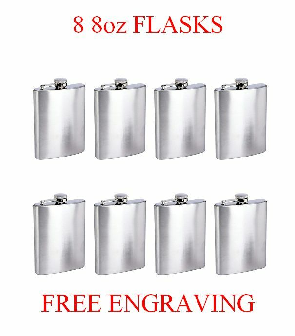8 Personalized Flasks 8oz groomsmen Usher Besteman bridesmaid gifts