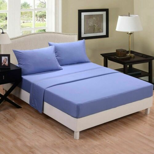 """Extra Deep Fitted Sheet 16/""""//40CM 100/% Egyptian Cotton 600TC all 4 sizes 13 color"""