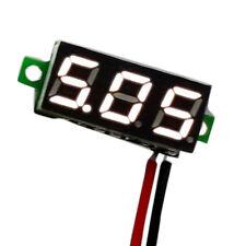 Mini DC 2.4-30V LED Panel Voltage Meter 3-Digital Display Voltmeter MotorcycleKW