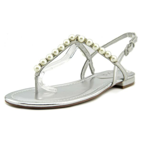 950827a8f768 Unisa Dariala Women US 8.5 Silver Thong Sandal Pre Owned Blemish 1268