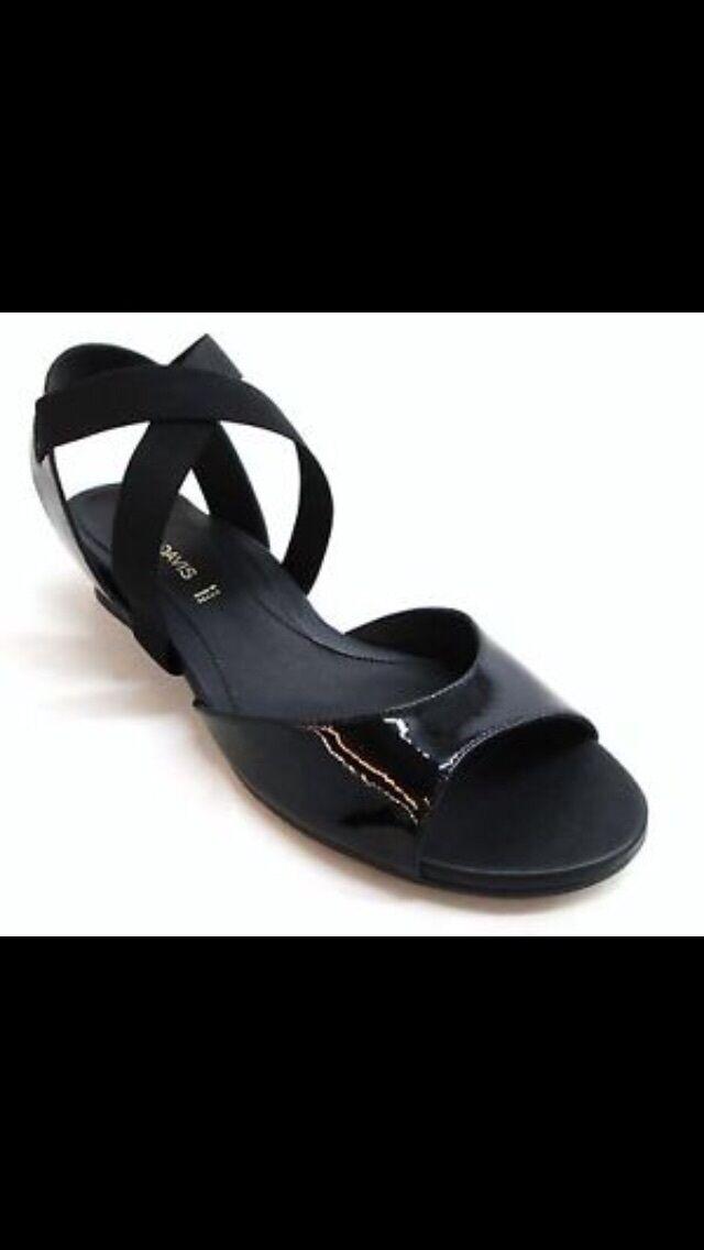 NEW in Box DANA DAVIS Black Patent Leather Susie Susie Susie Sandals Size 10 shoes Orig.  370 c2c3d7