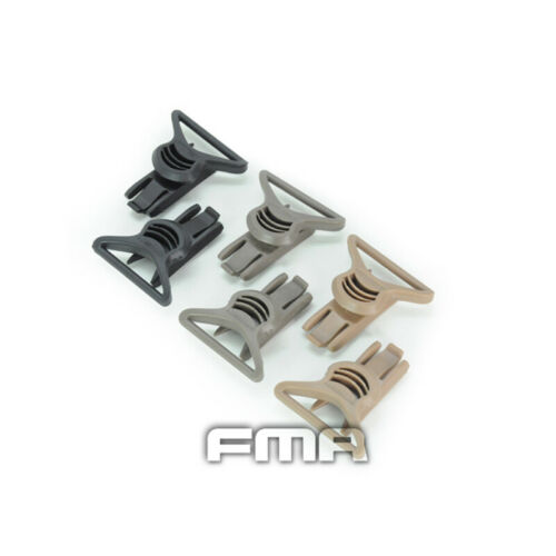 FMA Tactical Fast Helmet Goggle Swivel Clips Set 36mm for Side Rails 2pcs Gear