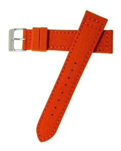 22mm-Hadley-Roma-ms850-Herren-Orange-Cordura-Canvas-Watch-Band-Strap-vegan