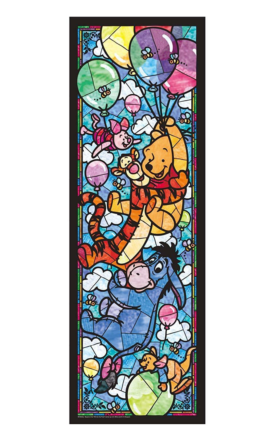 Tenyo Jigsaw Puzzle DSG-456-722 Stained 456 Piece Winnie the Pooh Stained DSG-456-722 Glass Art JP 7380ee