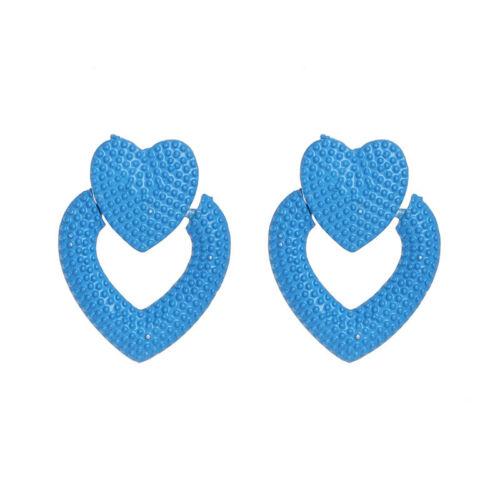 Fashion New Design Alliage Métal Coeur Clous D/'Oreilles Pour Femmes Fille Fête Bijoux
