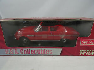 1-18-SUNSTAR-4531-Ford-Falcon-Futura-Convertible-Red-Rareza