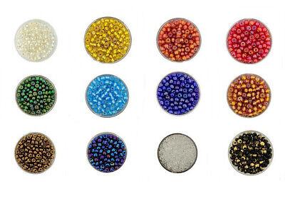 Rocailles Perlenset Glas 2//3//4 mm Violett//Lila Mix mit Sortierbox Schmuck AM30