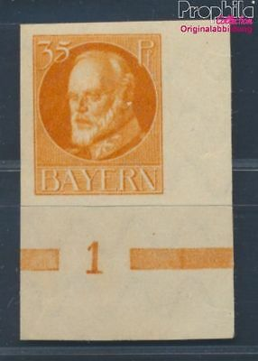 Bavaria 123B 1920 King Ludwig with Print Stamps for Collectors