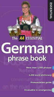 """AS NEW"" , AA Essential German Phrasebook (AA Essential Phrase Book), Paperback"