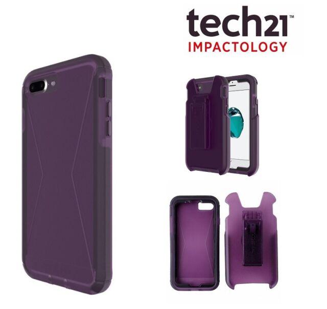 new arrival 9ccbd 3f32d tech21 iPhone 7 Plus Case EVO Tactical XT Tough Rugged Cover FlexShock -  Purple