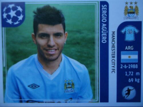 Panini 53 Sergio Agüero Manchester City UEFA CL 2011//12