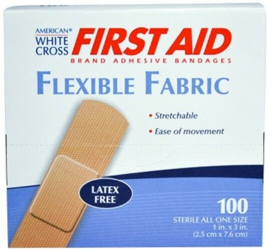 AWC Flexible Latex Free Adhesive Strip Bandages, 1  x 3 ,(11 Boxes) - MS25150