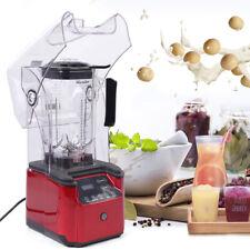 Usa Commercial Blender Soundproof Cover Fruit Juicer Smoothie Maker Quiet 2200ml