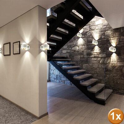 Wandlampe Design Leuchte Flur Schlaf Wohn Ess Zimmer Büro Strahler up/&down