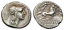 D JUNIUS SILANUS L F AR DENARIUS (J174)