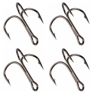50pcs VMC Treble Hooks Hi-carbon Steel Sizes 2-10# sea Fishing Treble Hook