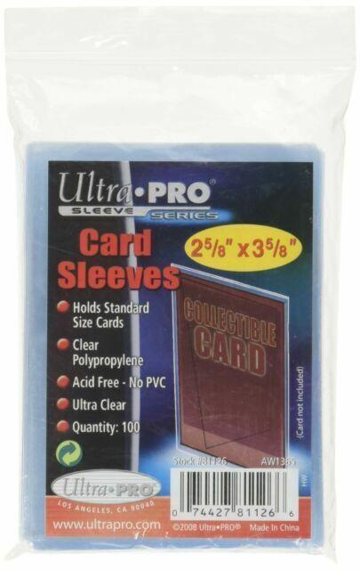 100 sleeves YuGiOh//Pokemon Ultra-Pro Card Sleeves X1