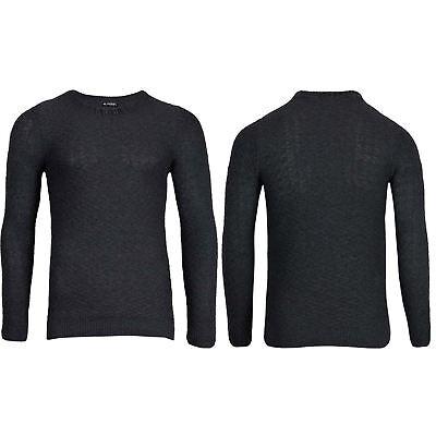 Da Uomo Manica Lunga Girocollo Con Marchio Zig Zag Sweater Pullover Caldo Maglione Tee Top-mostra Il Titolo Originale