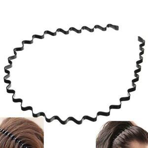 Men-Women-Metal-Sport-Biker-Hairband-Wave-Hair-Band-Hood-Headband