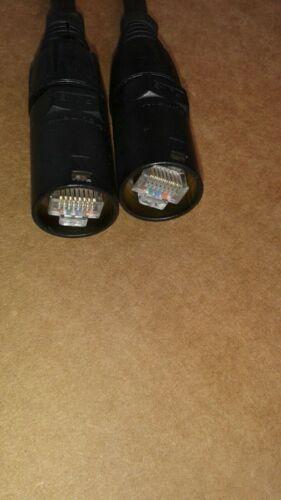 300FT  PRO CAT6 Tactical Shielded w//Neutrik Ethercon RJ45 Digital Audio Cable