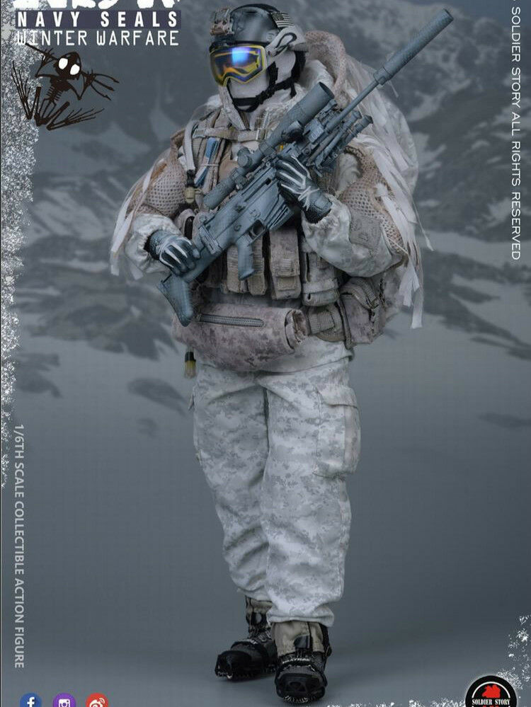 """Pre-order SOLDIER STORY 1 6 NSW  WINTER WARFARE """"MARKShomme"""" Action Figure  pas cher"""