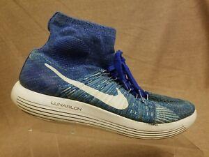 b1beeaf4f11 Nike 818676-401 Lunarepic Flyknit Men s Racer Blue White Running ...