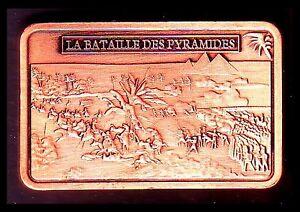 MAGNIFIQUE-LINGOT-PLAQUE-CUIVRE-NAPOLEON-LA-BATAILLE-DES-PYRAMIDES