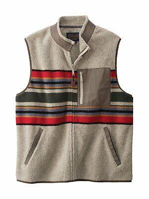 Pendleton Mens Camp Stripe Fleece Vest