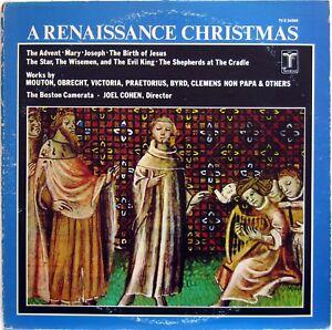 THE BOSTON CAMERATA JOEL COHEN A RENAISSANCE CHRISTMAS 1974 LP VOX ...