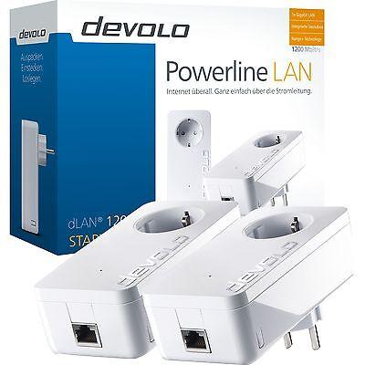 devolo dLAN 1200+ Starter Kit, Powerline, weiß