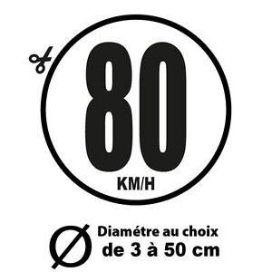80 km h limitation vitesse bus tracteur poids lourd adh sifs autocollant sticker ebay. Black Bedroom Furniture Sets. Home Design Ideas