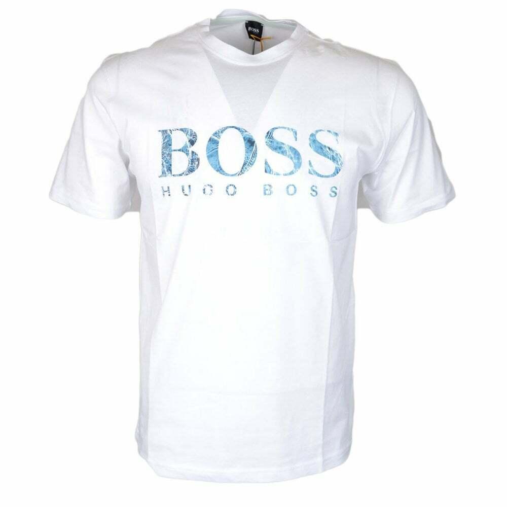 Hugo Boss Teecher 4 Cotton Printed Logo Weiß T-Shirt | Zahlreiche In Vielfalt
