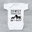 Nos premiers Pères Jour 2019 Lions Personnalisé Père/'s Jour bébé gilet Baby Grow
