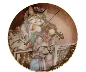 Danbury-Mint-Fanciful-Felines-Purrfectly-Performed-cat-plate-GB86