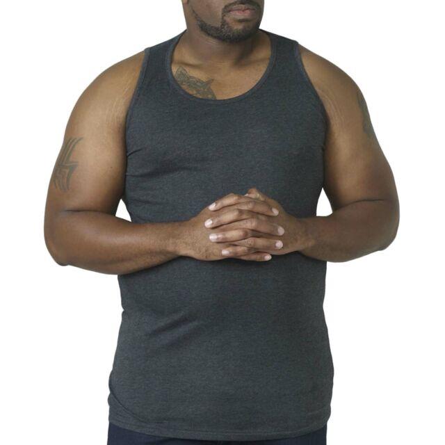 Grey D555 By Duke Kingsize Big Mens Large Muscle Vest Top Sleeveless Tank Gym Vest 1XL-6XL