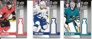 U-PICK-EM-LOT-2019-20-19-20-Upper-Deck-UD-Game-Jersey-amp-Rookie-RC-Materials-set
