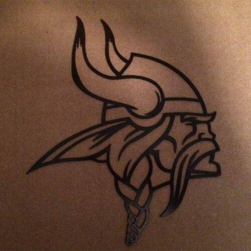 Minnesota Vikings Metal Art - 18x15 - Black Hammered 2