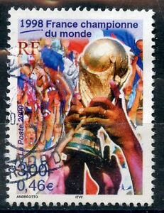 TIMBRE-FRANCE-OBLITERE-N-3314-FOOTBALL-FRANCE-1998-photo-non-contractuelle