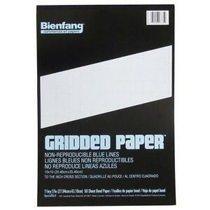 bienfand cross section 10x10 grid paper 50 sheet pad 11 x 17