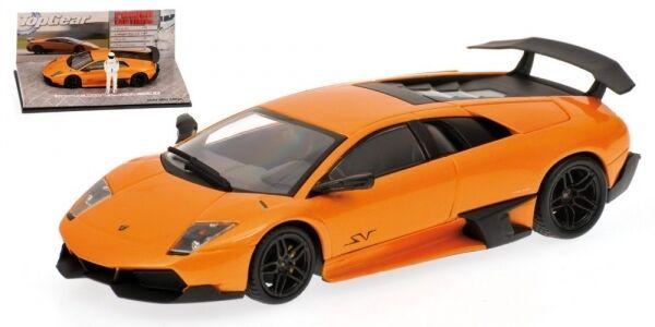 Lamborghini Murcielago Lp 670-4 Sv 2009 Orange Top Gear 1 43 Model MINICHAMPS