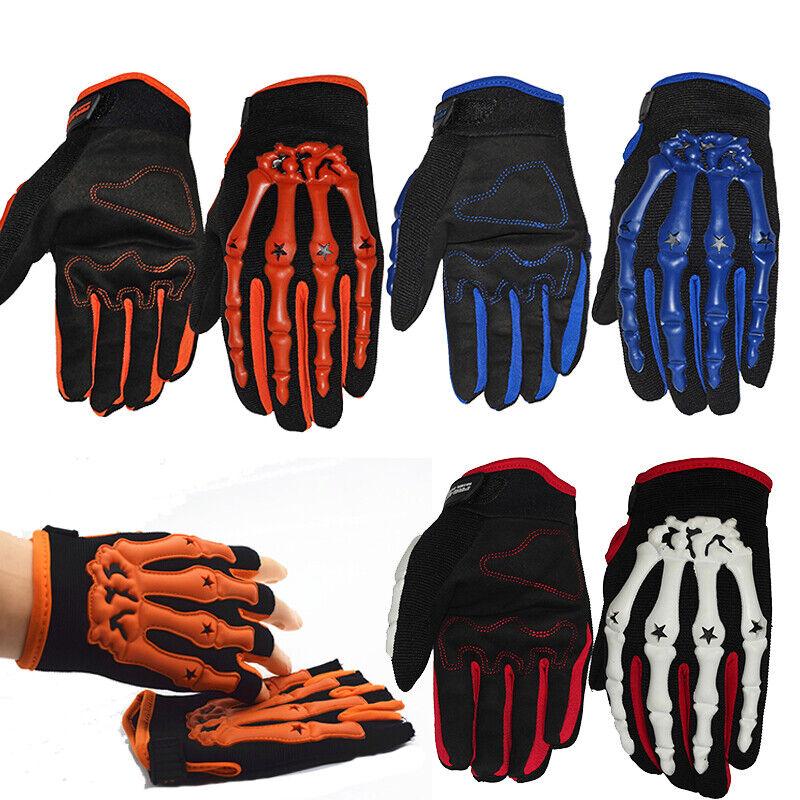 Mens Womens Cycling Motorcycle Bike Racing Gloves Halloween Skeleton Hand Gloves