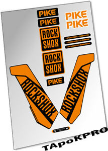 Brand New Custom RockShox Pike fork 27.5 29 orange glossy stickers kit decals
