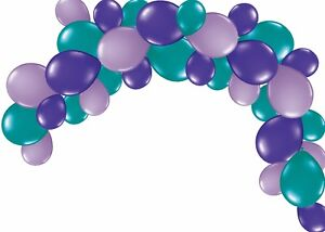 Image Is Loading Balloon Garland Party Kit Mermaid Birthday Decoration 1st