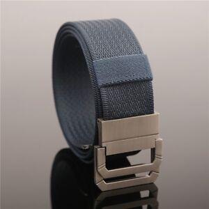 Belt-For-Men-amp-Women-Quality-Tactical-Military-Canvas-Solid-Nylon-Webbing-Belt