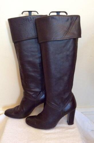 Leather Boots 38 Size Dorothy Knee High 5 Brown Perkins Dark tqnagw